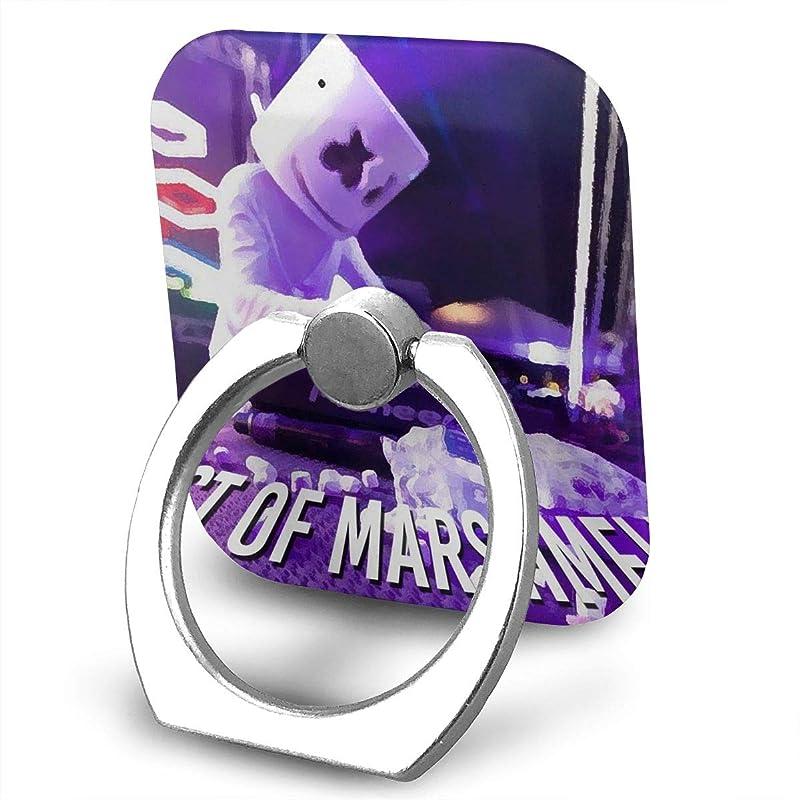 とげ交じるカウボーイGreatayifong マシュメロ Marshmello バンカーリング スマホ リング 人気 ホールドリング 薄型 スタンド機能 ホルダー 落下防止 軽い 360 回転 IPhone/Android各種他対応 (シルバー)