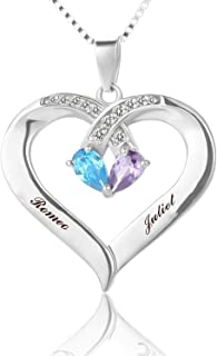 Best personalized heart necklace for mom Reviews