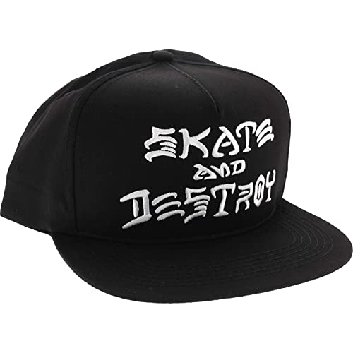 7ed1dd92d3e Thrasher Magazine Skate and Destroy Black   White Snapback Hat - Adjustable