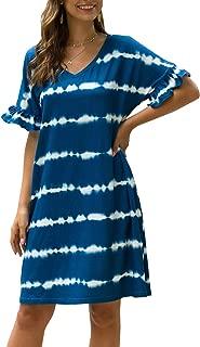 striped loose dress