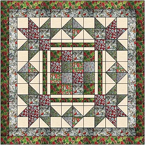 Quilt Kit Christmas Eve On Town Lap Ranking TOP2 Spasm price Square The