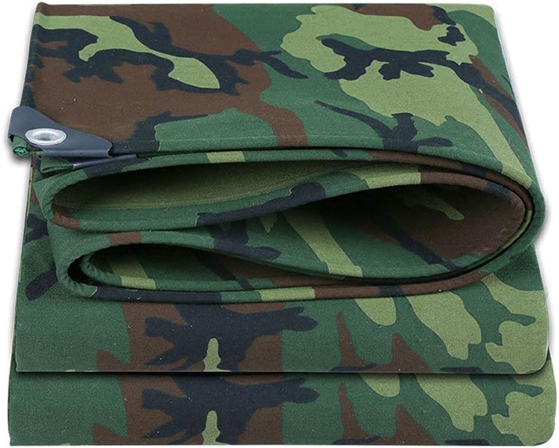 HUO Tent Tarps MultiPurpose Tarp, Army Camouflage Waterproof Tarpaulin for Camping Hunting Fishing