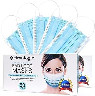 [Amazon限定ブランド] cleanlogic マスク 医療用マスク サージカルマスク ASTM 使い捨て 不織布マスク mask ふつうサイズ 三層構造 アメリカ規格認定 BOUNSTEP (2箱)