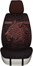 yberlin Car Seat Covers,Universal fit Cooling Breathable Front Seat Cover,Artistic Leopard Print Honeycomb Porous Cloth(ONE Piece)(Coffee)