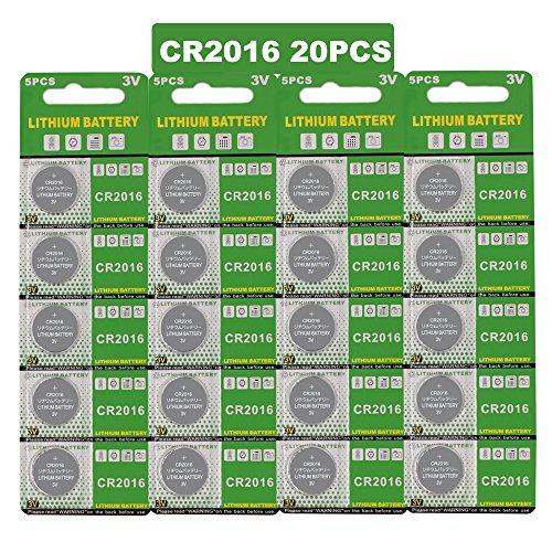 20 Stück CR2016 3V Lithium Knopfzelle Elektro CR 2016 Lithium