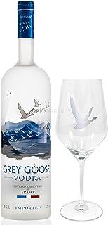 Grey Goose Set - Grey Goose Vodka 0,7l 700ml 40% Vol  Glas -Enthält Sulfite