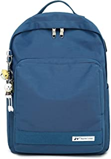 Casual Daypack Backpack College Backpack Travel Laptop Backpack with USB Charging Headphone Port Water-resistant Backpack Lightweight Bookbag Fits for 14 inch Laptop Perfect for Boy and Girl -Blue