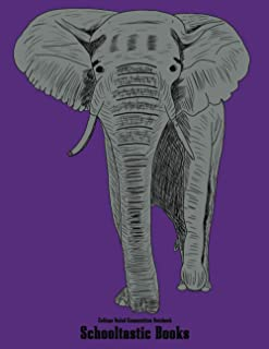 College Ruled Composition Notebook: African Elephant Awareness 100 Pages (50 sheets) 8.5X11 inches Medium Ruled Journaling...