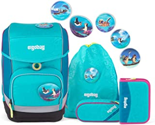 Bleu ERGOBAG ergobag Pack Set Sac /à Dos Enfants Blue Dots 20 liters 35 cm