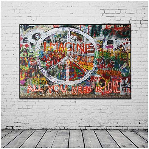 Banksy Graffiti Art Abstract Canvas Schilderij Posters en Prints
