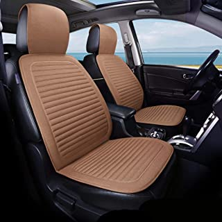 AMERTEER Car Seat Cover [ PACK OF 2 ], Breathable Car Seat Protector Summer Linen Bench Protection, Universal Anti-Slip Dr...