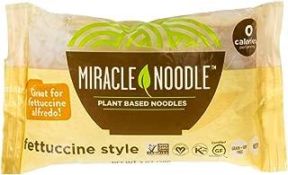 Miracle Noodle Shirataki Konjac Fettuccine Pasta, 7 oz (Pack of 6), Zero Carbs, Zero Calories, Gluten Free, Soy Free, Keto Friendly (Packaging May Vary)