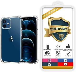 """Capa Protetora Para Iphone 12 e 12 Pro com Tela de 6.1"""" Polegadas Capinha Case Transparente Air Anti Impacto Proteção De S..."""