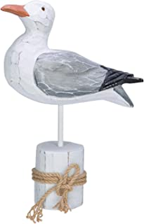 """Best Beachcombers Seagull White Piling Figurine with Rope Coastal Nautical Table Room Home Decor 10. 25"""" x10. 50"""" Multi Review"""