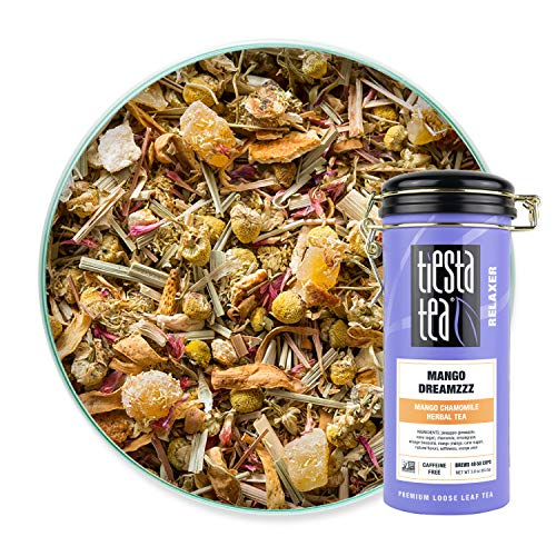 Tiesta Tea - Mango Dreamzzz, Loose Leaf Mango Chamomile Herbal Tea, Non-Caffeinated, Hot & Ice Tea, 3 oz Tin - 50 Cups, Natural Flavored, Calming, Herbal Tea Loose Leaf