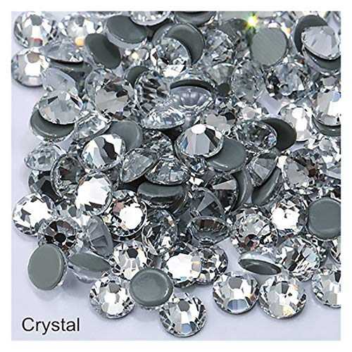 Decoración de bricolaje Cristal AB Vidrio Hotfix Rhinestone Muchos tamaños Fix Fix Rhinestone Iron-On Diamond para vestido de manualidades de bricolaje ( Color : Crystal , Size : SS34 144pcs )