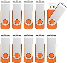 Kootion 16 GB USB 3.0 Flash Drive 16gb Flash Drives 10pcs Thumb Drive Keychain Jump Drive Swivel Memory Sticks, Orange