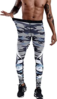 Men's Cool Dry Compression Tights Pants Baselayer Running Leggings Yoga Sports Active Pants,A,XXL