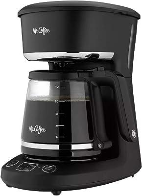 Mr. Coffee® Cafetera programable de 12 tazas, prepara ahora o más tarde