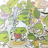 XZZ Pegatinas de Cuenta de Mano Travel Frog Pegatinas Hechas a Mano Hechas en casa Frog Son Hand Account Diary Pegatinas Decorativas 24 Piezas