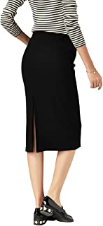 Foucome Women's Maternity Skirts Belly Fit Pencil Solid Color Hip Wrapped Long Pregnancy Skirts