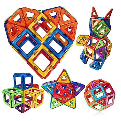 磁石ブロック マグネット マグネットブロック 磁気おもちゃピタゴラスおもちゃ 磁石おもちゃ マグネットパズル 磁気ブロック 立体マグネット マグネッおもちゃ(立体パズル ゲーム モデルDIY 磁石積み木などで子供の想像力と創造力を育て、誕生日/入園 ギフト/出産お祝い/帰省してきた孫さんへのプレゼントに)40ピース