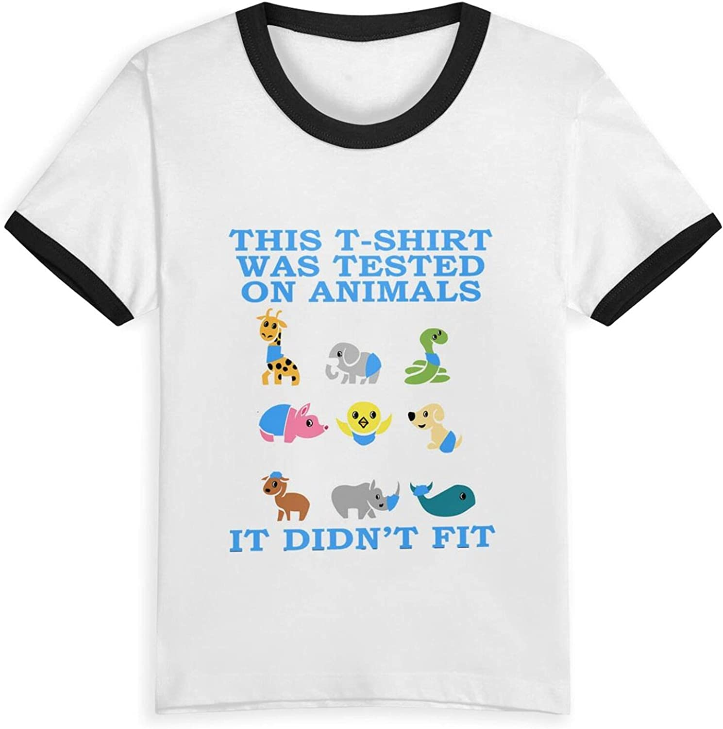 This Tshirt was Tested On Animals It Didnt Fit T-Shirts Novelty for Kids Tees with Cool Designs