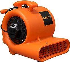 AstroDry Pro Air Mover Carpet Floor Dryer 3-Speed 1/3HP 1119CFM Stackable Blower Fan-Water Flood Damage Restoration-Orange, A200