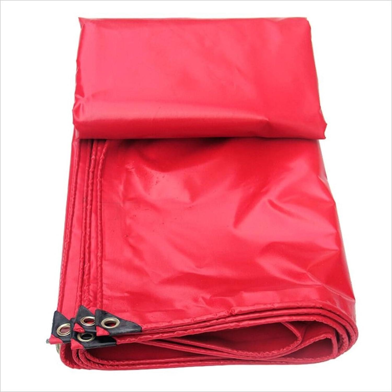 Hyzb Rote Feier-Plane-PVC-Plane festlicher überdachungs-Stoff-wasserdichter Lichtschutz-Segeltuch-Regen-Tuch-Schatten-Stoff (gre   3m × 5m)