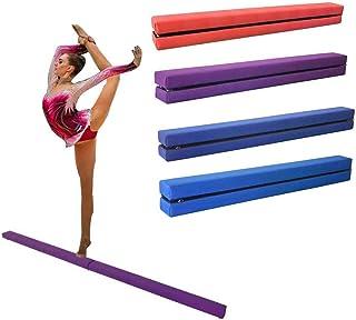 Dioche Poutre de gymnastique 220 cm Balance Beam Poutre d/équilibre pliable /Équipement de gymnastique de sol Gymnastique pour entra/înement pour enfants ou adultes