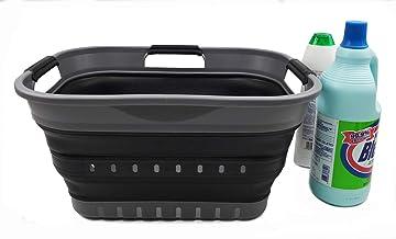 SAMMART 19L (5 gallon) Collapsible Super Mini 3 Handled Plastic Laundry Basket - Foldable Pop Up Storage Container/Organiz...