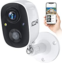 ACCUHR Security Camera Outdoor Rechargeable Battery Wireless Security Camera System,1080P WiFi Home Surveillance Camera wi...