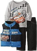 Disney Little Boys' Cars 3 Piece Nylon Vest Set, Blue, 5T