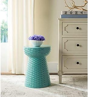 Best Safavieh Daphne Glazed Ceramic Decorative Garden Stool, Light Blue Review