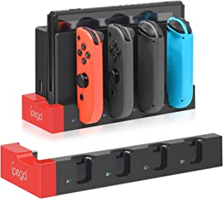 Charger for Nintendo Switch Joy-con, Charger Station Stand for Joy-Cons Accessories with LED Indication, Support to Charge...