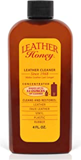 Leather Cleaner by Leather Honey: The Best Leather Cleaner for Vinyl and Leather Apparel, Furniture, Auto Interior, Shoes ...