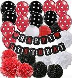 Rouge Mickey Mouse Décorations De Fête D'anniversaire Minnie Mouse Partie...