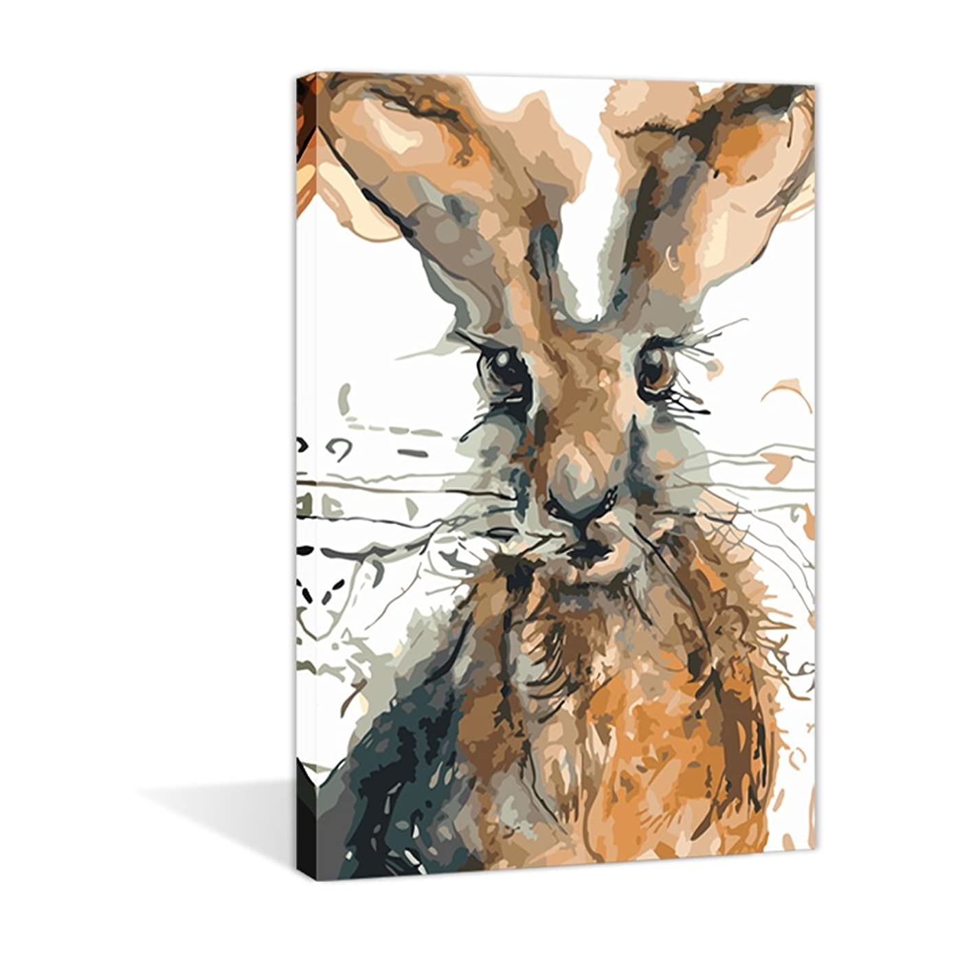 Paint by Numbers 16 x 20 inch Canvas Art Kits DIY Oil Painting for Kids/Students/Adults Beginner Wall Decorative Painting, Cute Animal Rabbit(Frameless)