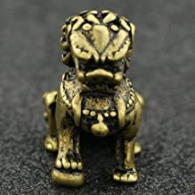 Statue Statue Sculptures Pure Brass Carving Lion Kylin Animal Statue Fengshui Safe and Good Luck Home Decoration