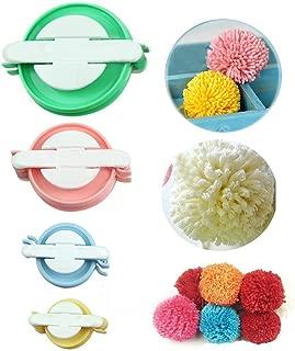 Sell4Style Pompom Pom-pom Maker for Fluff Ball DIY Wool Knitting Craft Tool 4 Sizes Set