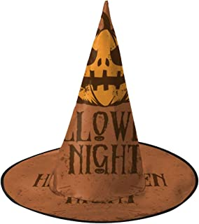 Halloween Pumpkin Horrible Women's Witches Hat Cosplay Costume Caps for Halloween Party
