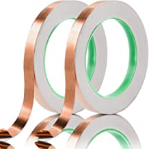 HEZE Copper Foil Tape with Double-Sided Conductive, for Guitar, EMI Shielding, Stained Glass, Soldering, Electrical Repairs, Paper Circuits, Grounding and Crafts
