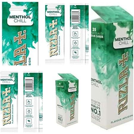 Rizla Poshliquid Boîte de 25 cartes réfrigérantes au menthol