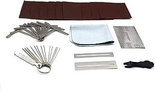 Set of 36 Premium Luthier Tools for Guitar Bass Setup Kit Includes String Action Gauge Ruler, Under string Radius Gauge, Pin Puller, 2 Fingerboard Fret Protector Guards, Clean Cloth - iLuiz