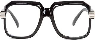Hip Hop Rapper Retro Large Clear Lens Eye Glasses, Black