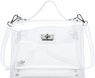 Heng Rui Women's Clear Shoulder Bag PVC Purse Handbag Waterprof Transparent Handbags Concert,Stadium Approved Bags
