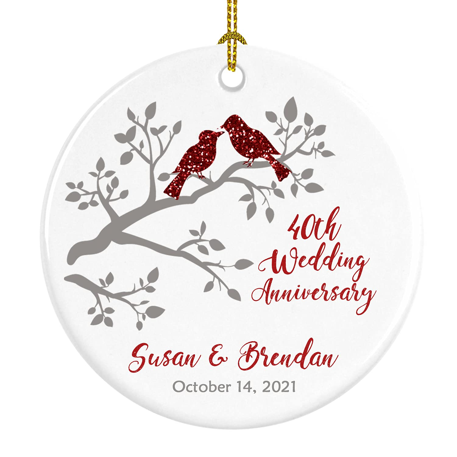 Anniversary Christmas Ornament Sale price Manufacturer regenerated product 40th an