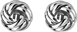 Silver Twisted Locket Style Clip-on Earrings