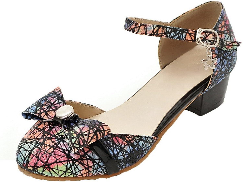 AllhqFashion Women's Low-Heels Assorted color Buckle Blend Materials Pumps-shoes