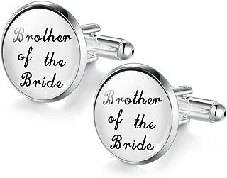 DALARAN Men Personality Wedding Cufflinks Silver Plated Letter Cufflinks Wedding Engagement Jewelry